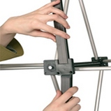 POP UP стенд mobilex крепление магнитного ребра